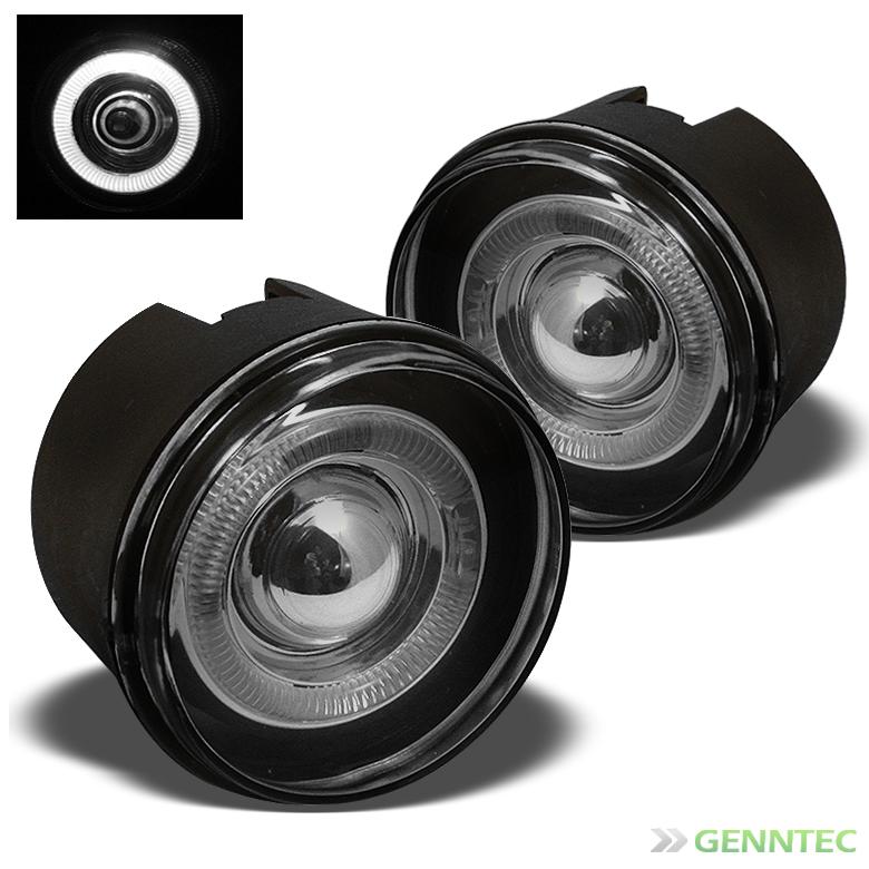 Smoked 2005-2008 Dodge Dakota Halo Projector Fog Light Lamp+Switch+Bulb+Harness 2006 2007 Pair Left+Right