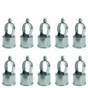 "CHAIN LINK FENCE LOOP CAP - EYE TOP. Use For 2-3/8"" Outside Diameter (OD) Fence Post and 1-5/8"" Outside Diameter Rail Pipe. Aluminum (10 PACK)"