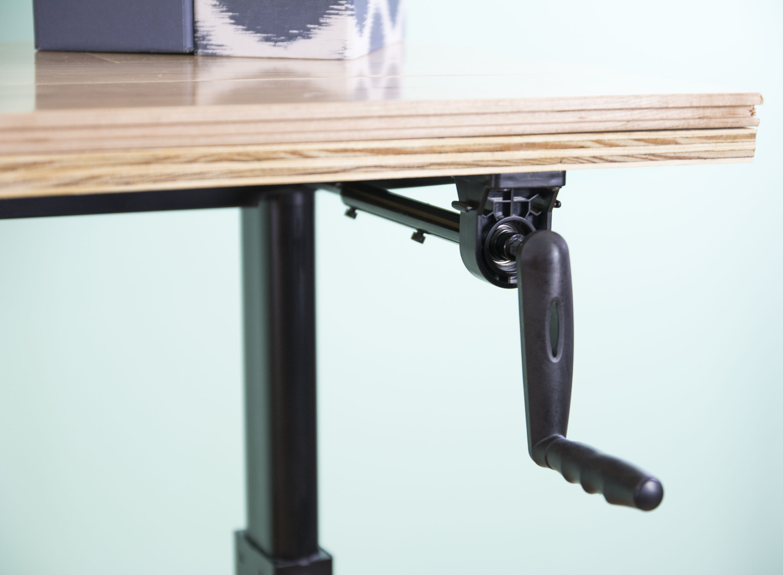 VIVO Manual Crank Stand Up Desk Frame System Ergonomic Standing