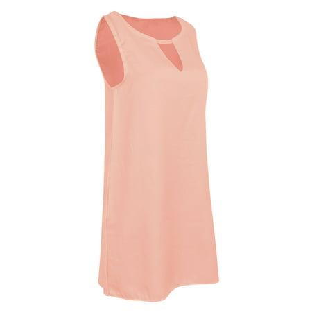 Plus Size Women Summer Beach Dress Boho Sleeveless Party Cocktail Halter Neck Tops Loose Tunic Sundress S-5XL #WAD