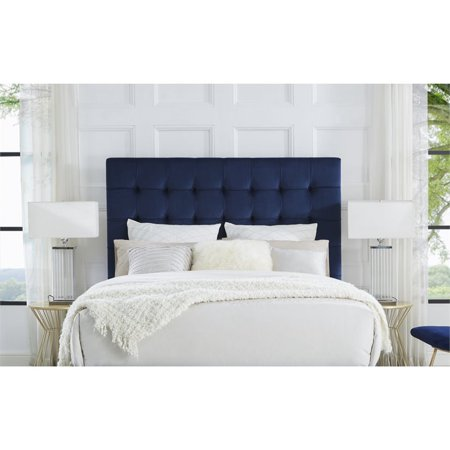 sports shoes 04ee0 3bd7f Blake Blue Velvet Tufted Headboard - Queen Size - Upholstered - Tufted