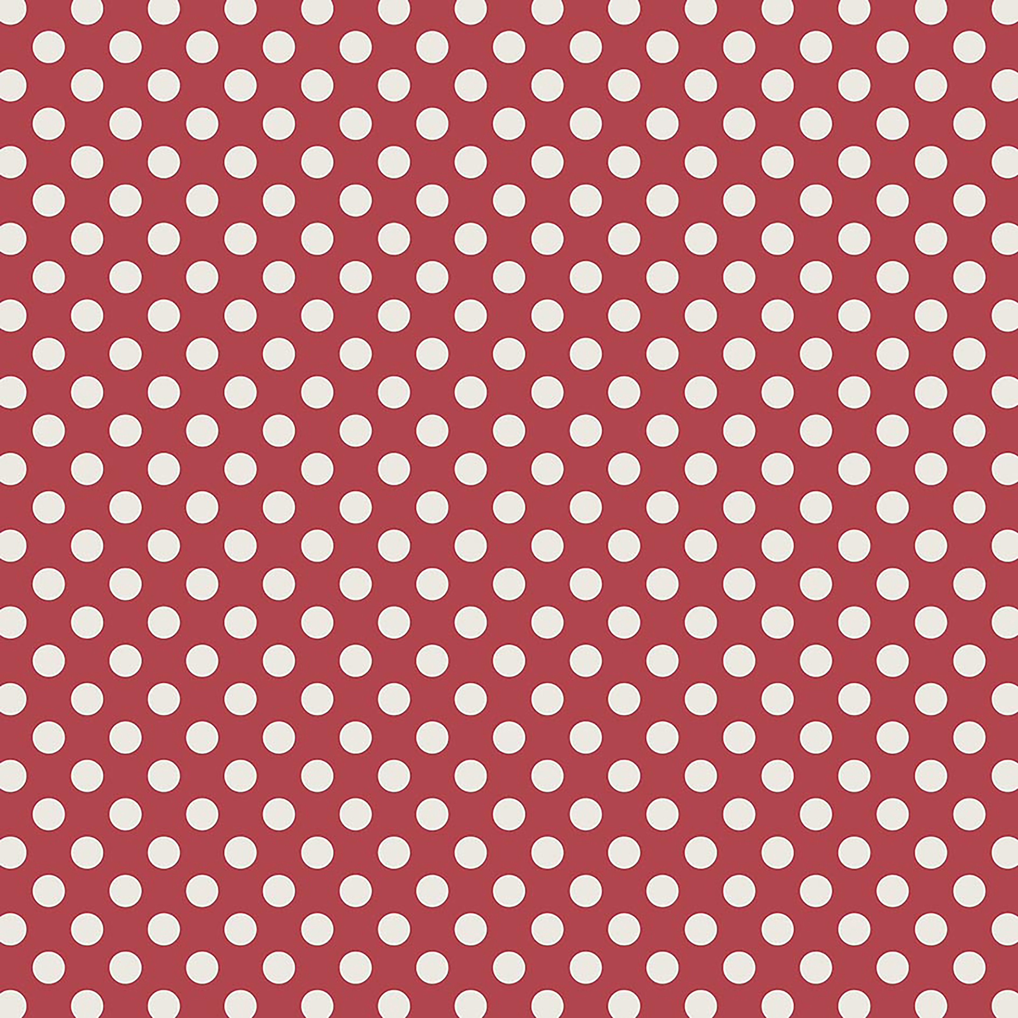 "Bella! Red/White/Blue Single-Sided Cardstock 180Gsm 12""X12""-#6 Red W/White Dots - image 1 de 1"