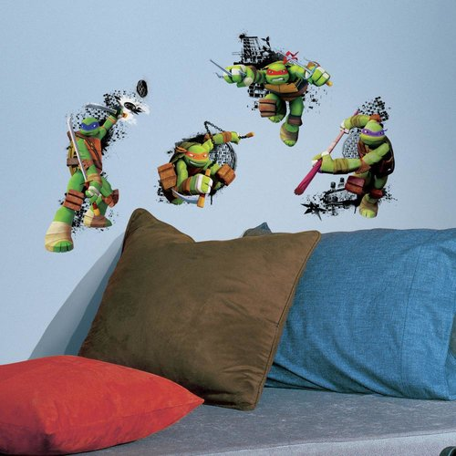 Room Mates Internet Only Teenage Mutant Ninja Turtles in Action Wall Decal