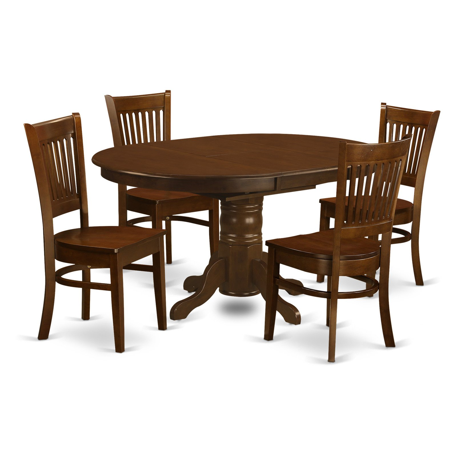 East West Furniture Kenley 5 Piece Hepplewhite Modern Dining Table Set