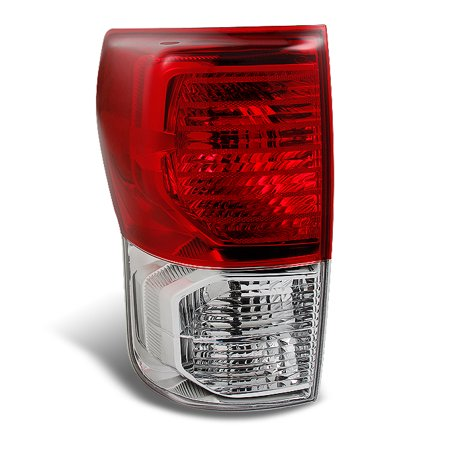 Left Side Tail Lamp Light (Fits 10-13 Tundra Pickup Red Clear Taillight Brake Lamp Set Driver Left)