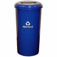 Witt 20 Gallon Paper Recycling Container, Steel, Blue