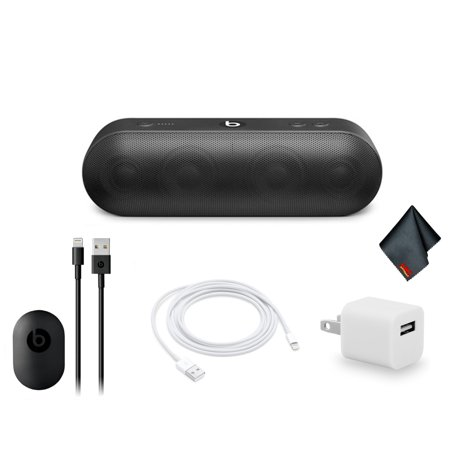Beats by Dr. Dre Beats Pill+ Portable Bluetooth Speaker Standard Collection (Black) Bundle Kit with Extra Charging Cable + More (Mini Speaker Beats By Dre)
