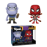 Funko POP! Arcade Vinyl Marvel Avengers Infinity War: Thanos and Iron Spiderman, Vinyl Figures