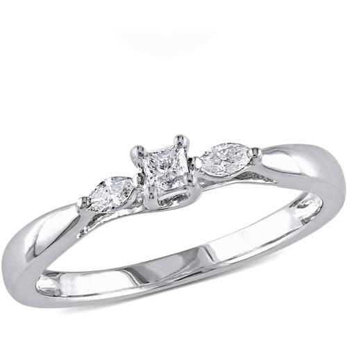 1 carat t w princess cut black and white