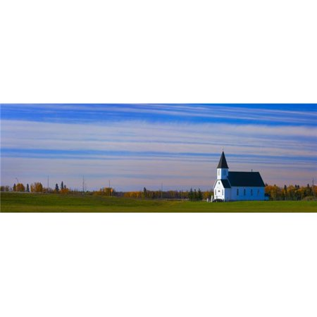 Posterazzi DPI1809559 Traditional Prairie Steeple Church in The Morning Poster Print by Corey Hochachka, 34 x 11 - image 1 of 1