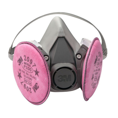 3M 7182 Half Facepiece Respirator Packout Medium with Particulate Filters