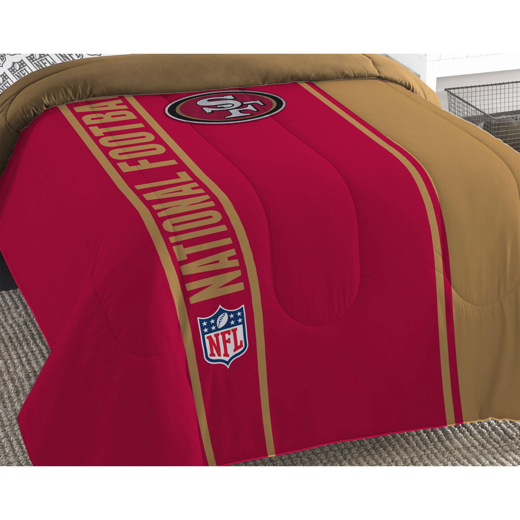 Northwest NFL San Fransisco 49ers Bed Comforter Set Footb...