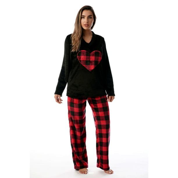 Just Love - Just Love Plush Pajama Sets for Women (Black ...