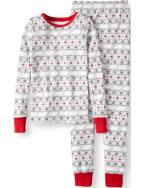 e90e280d Product Image Family PJs Family Sleep Fairisle Cotton Tight Fit Pajamas, 2-piece  Set (Little