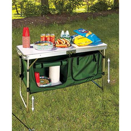 Adjustable and Durable Portable Folding Camping Kitchen Table