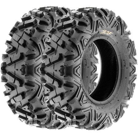 SunF All Trail A/T ATV UTV Tires 25x8-12 25x8x12 6 PR A033 (Set pair of