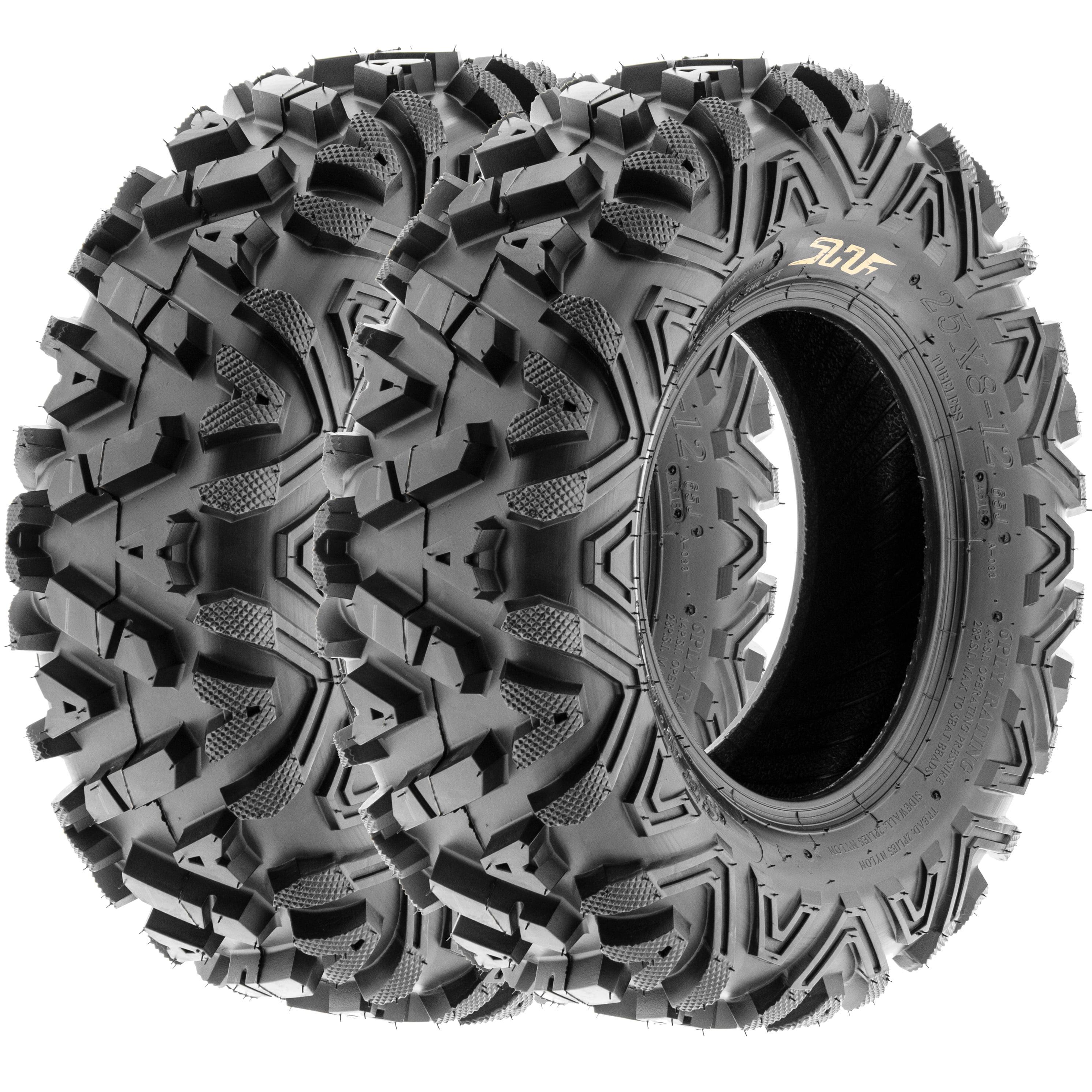 SunF All Trail A/T ATV UTV Tires 25x8-12 25x8x12 6 PR A033 (Set pair of 2)