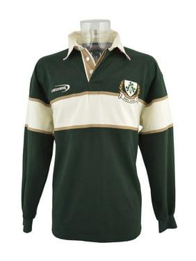7f06456fe6d4 Product Image Bottle Green Ireland 3 Shamorck Crest Long Sleeve Rugby Shirt