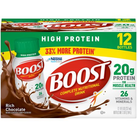 - (2 Pack) Boost High Protein, Rich Chocolate, 8 Fl oz Bottles, 12 Ct