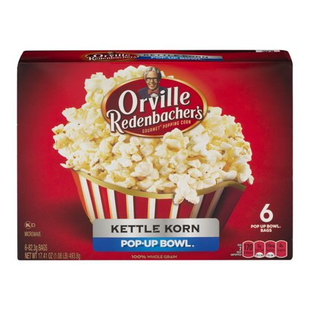 Orville Redenbacher's Pop Up Bowl Kettle Korn Microwave Popcorn, 6-Count