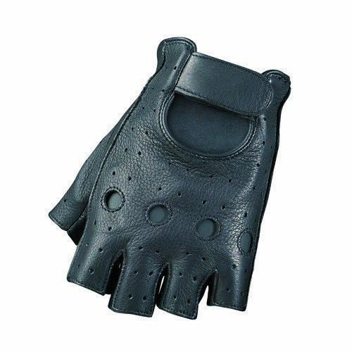 Camoplast BCS-702-S Mossi Mens Deerskin Fingerless gloves Small Black