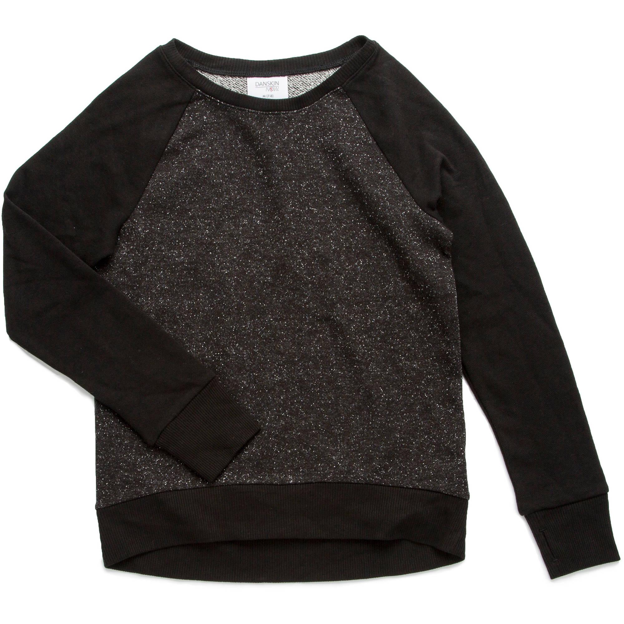 Danskin Now Girls' French Terry Sweatshirt
