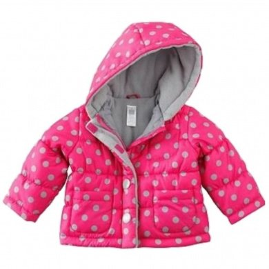 bec1c4338 Carters - Carters Infant Baby Girls Pink Dot Hooded Ski Jacket ...