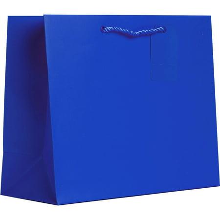 60 Matte - Jillson & Roberts Large Gift Bags, Solid Matte Royal (60 Pcs)