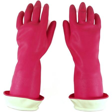 Casabella Pink Water Stop Premium Large Gloves (Casabella Premium Water Stop Gloves Small 1pr)