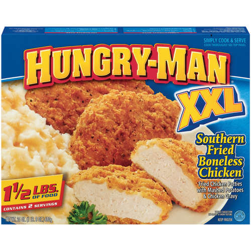 Hungry-Man: W/Mashed Potatoes & Chicken Gravy Xxl Southern Fried Boneless Chicken, 24 oz
