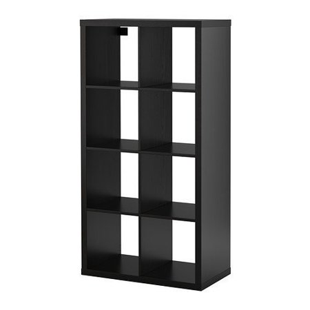 Ikea Kallax Bookcase Room Divider Cube Display, Black-Brown 10210.231726.1812 ()