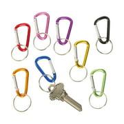 Mini Metallic Clip Key Chains (4Dz-Un) - Party Favors - 48 Pieces