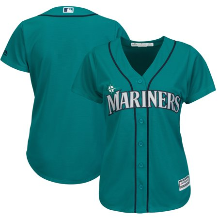 Seattle Mariners Authentic Alternate Jersey (Seattle Mariners Majestic Women's Cool Base Jersey - Northwest Green)