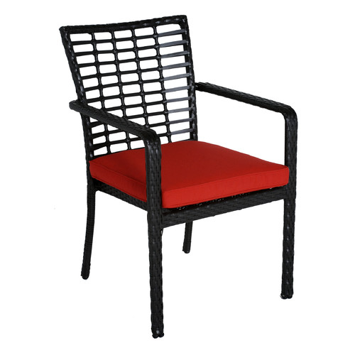 Meadow Decor Melrose Stacking Patio Dining Chair with Cushion