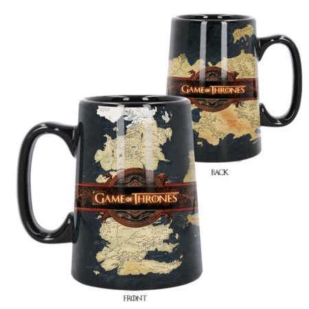 Official Licensed Game Of Thrones World Map Ceramic Tankard Coffee