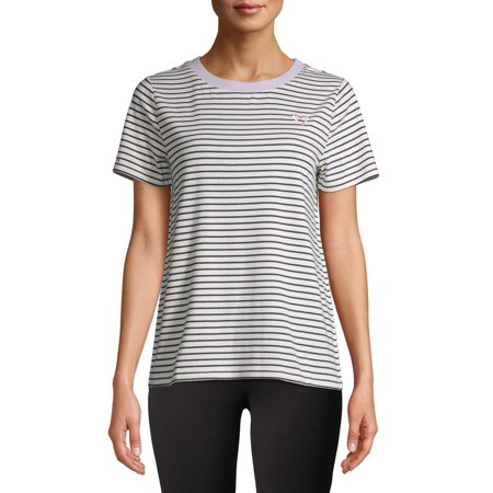 Women's Striped Embroidered T-Shirt Ohio Embroidered T-shirt