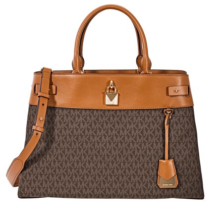 Michael Kors Gramercy Large Signature Logo Print Satchel- (Michael Kors Animal Print Bag)