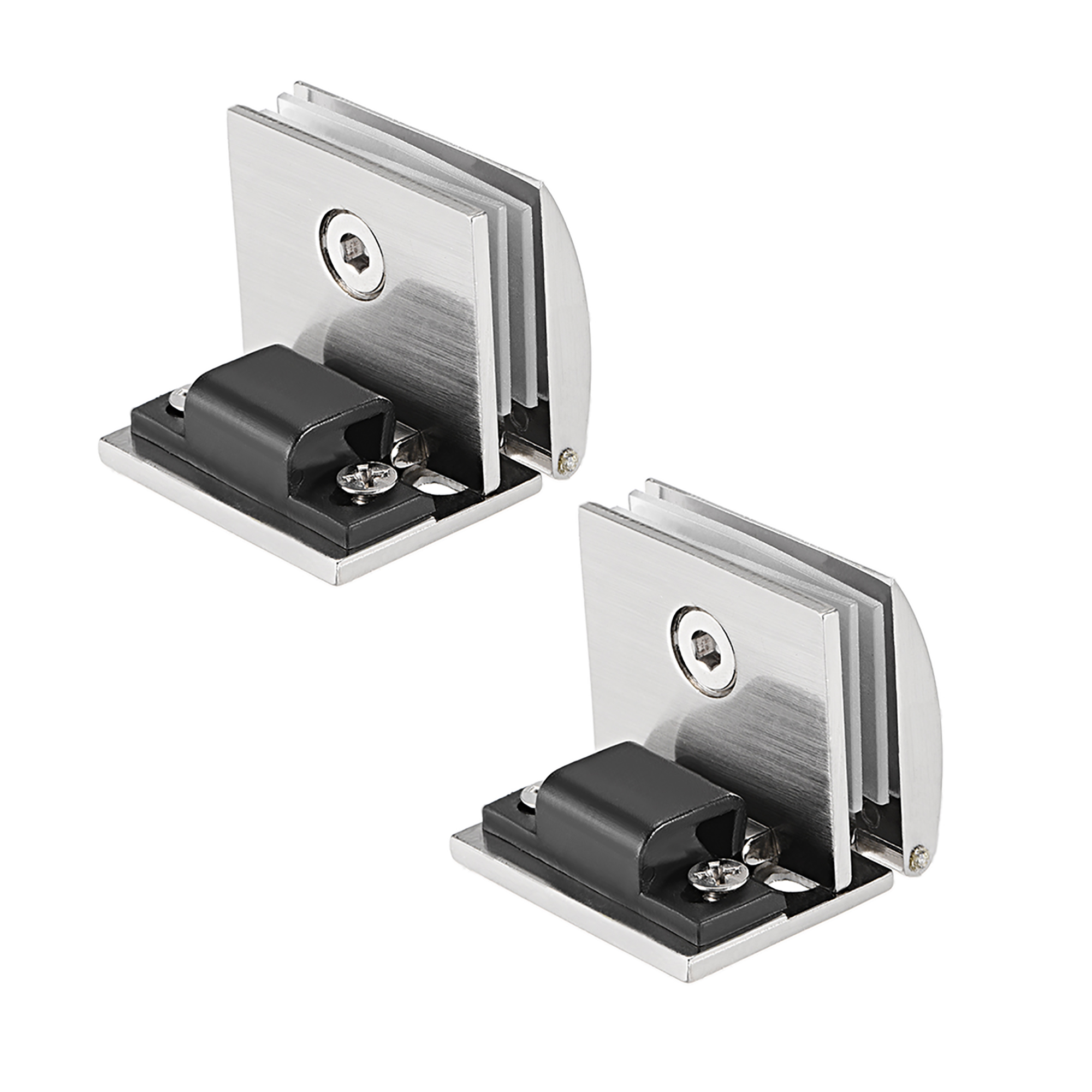 Uxcell Glass Hinge Showcase Door Hinge Glass Clamp for 5-8mm Thickness 2Pcs - image 5 of 5