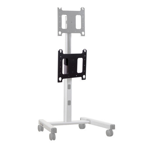 Chief Manufacturing P-Series Dual Vertical Display Accessory Fixed Floor Stand Mount for Flat Panel Screens