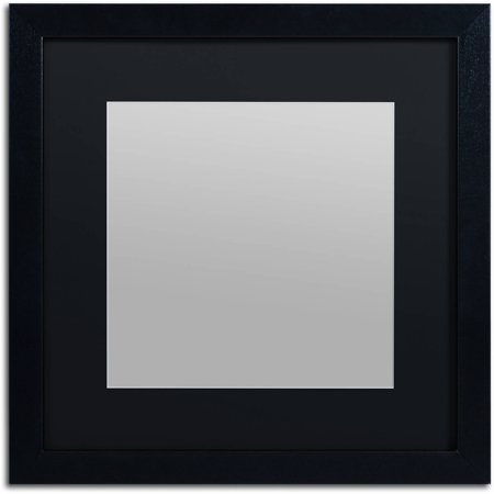 Trademark Fine Art Heavy-Duty 16x16 Black Picture Frame with 11x11 Black Mat