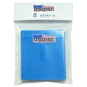 USDISC Plastic Sleeves, Double-sided 2 Disc, Blue, Pack Of 100