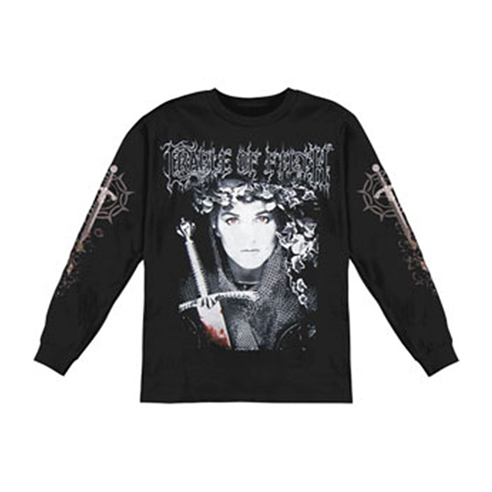 Cradle Of Filth Men's  English Fire  Long Sleeve Black