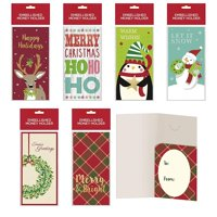 B-THERE Bundle of Assorted Embellished Holiday Gift Cards, Money Holders Set of 36 Cards for Christmas Gifting