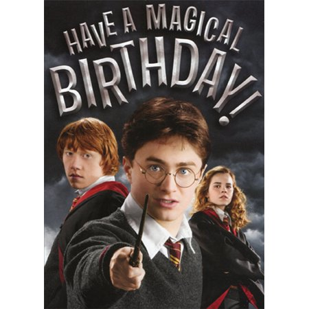 Harry Potter Gift Wrapping Ideas (Paper House Productions Harry Potter Embossed Birthday Card For)