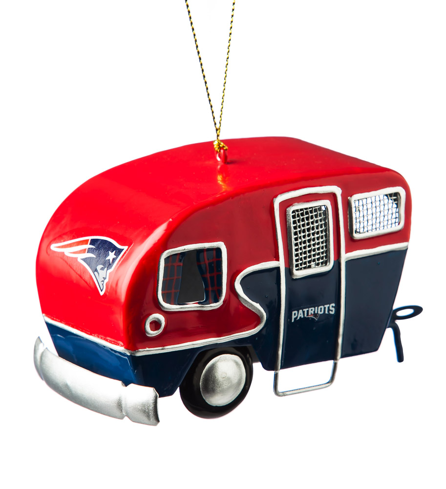 New England Patriots Metal Camper Ornament