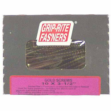 Grip-Rite 3-1/2 in. Gold Screws for General Construction (1 (Best Screws For Plywood)