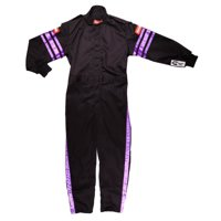 RACEQUIP Black/Purple Stripe Youth 2X-Small 1 Layer Driving Suit P/N 1950590