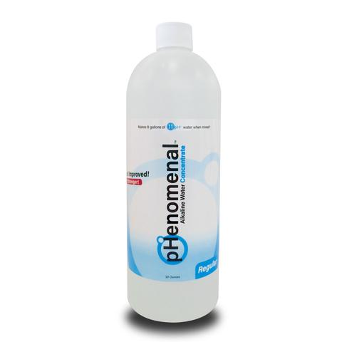 pHenomenal Alkaline Water Concentrate - high 11 pH oxygenated water - Regular 32 Oz Bottle - makes 8 Gallons of alkaline water - 500 times stronger than 8.5 pH