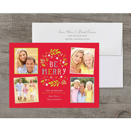 Whimsical Merry Deluxe Holiday Card
