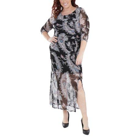 Plus Size Double Slit Maxi Dress - Walmart.com